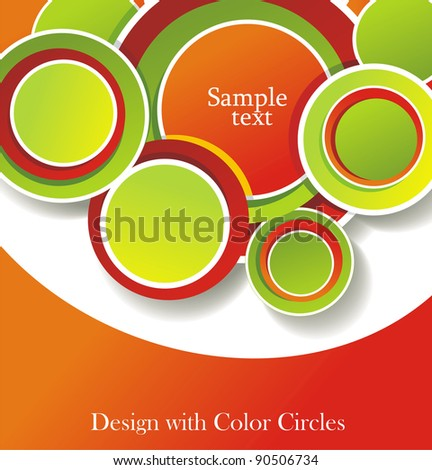 abstract background with color circles - stock vector