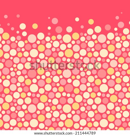 Abstract background with color circles. Vector illustration. - stock vector