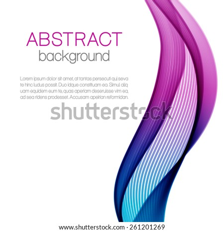 Abstract background with color wave  - stock vector