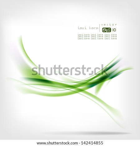 Abstract background with colored lines and waves - stock vector