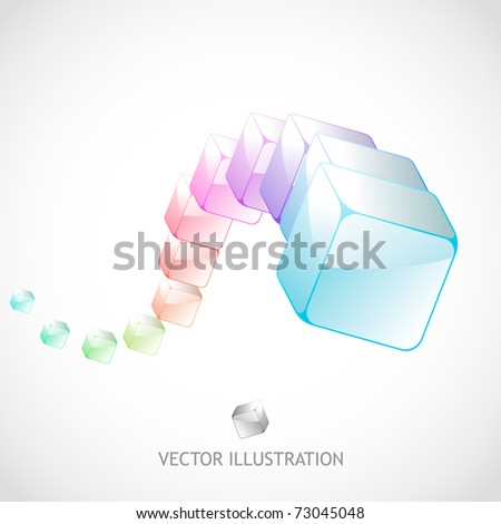 Abstract background with colorful boxes - stock vector