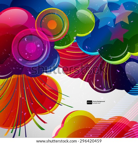 Abstract background with colorful elements.Vector illustration. - stock vector
