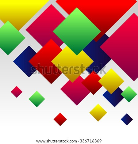 Abstract Background with Colorful Gradient Red, Blue, Green, Pink an Yellow Squares - stock vector