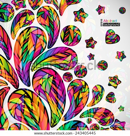 Abstract background with colorful mosaic design elements.  - stock vector