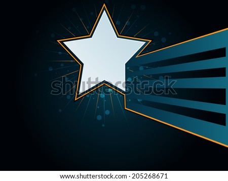 Abstract background with colorful star - stock vector