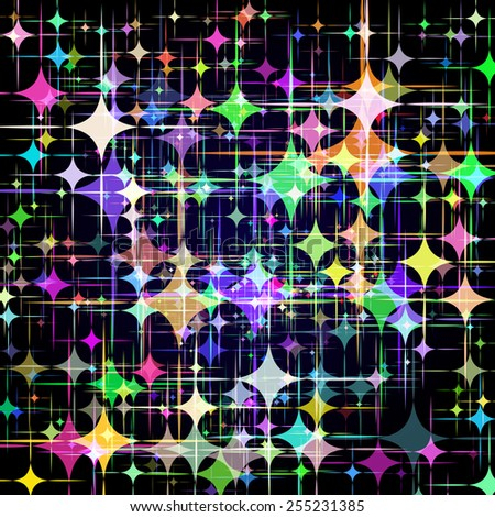 Abstract background with colorful stars. Vector. 1 Vector.  - stock vector