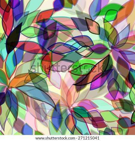 abstract background with colors petals - stock vector