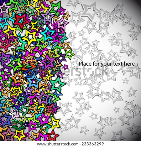 abstract background with colors stars for your text - stock vector