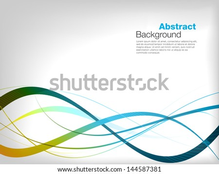Abstract Background with Colourful waves - stock vector