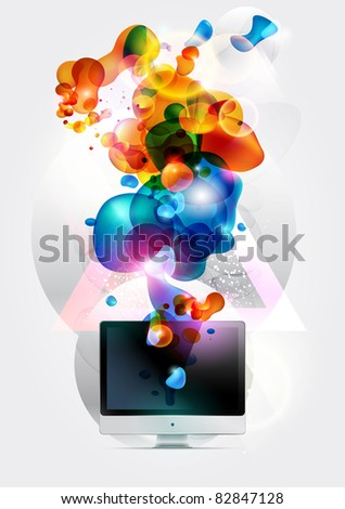 Abstract background with computer