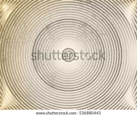 Abstract background with concentric circles grungy. Vector illustration.