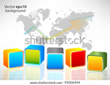 Abstract background with cube