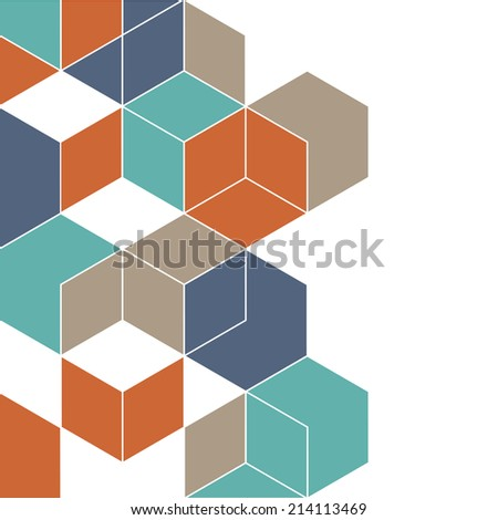 Abstract background with cubes for design. Vector EPS10  - stock vector
