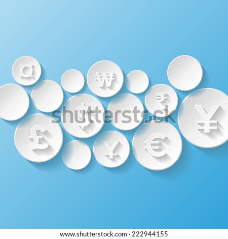 Abstract background with currency symbols. Vector illustration  - stock vector