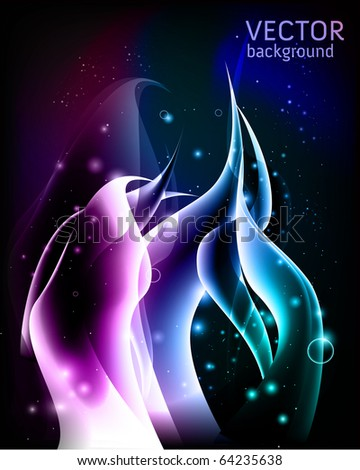 abstract background with curved shapes - stock vector
