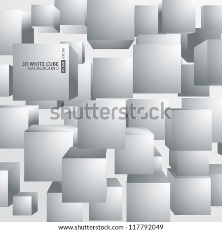 Abstract background with 3d cubes and squares