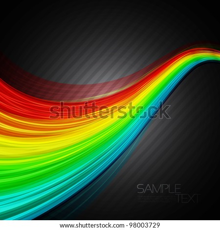 Abstract background with 3D rainbow lines. EPS10 Vector illustration - stock vector