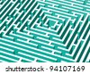 abstract background with 3d vector labyrinth - stock vector