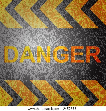 Abstract background with danger warning, vector. - stock vector