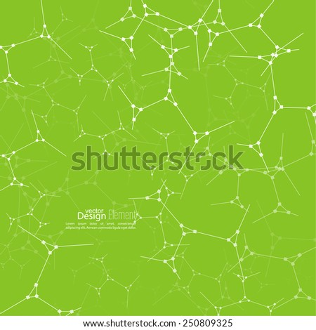 Abstract background with DNA strand molecule structure. genetic and chemical compounds - stock vector