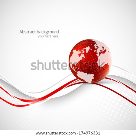 Abstract background with earth - stock vector