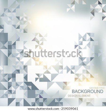 abstract background with elements of geometric shapes, triangle - stock vector
