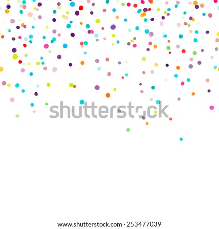Abstract background with falling confetti - stock vector