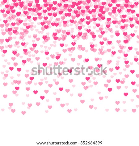 abstract background with falling hearts. vector illustration - stock vector