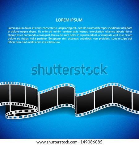 Abstract background with film reel. EPS10 vector - stock vector