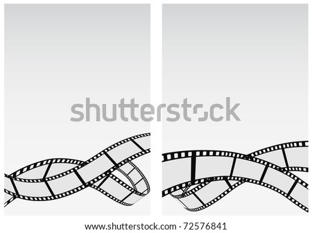 abstract background with film strip - stock vector