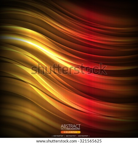 Abstract background with flame - stock vector