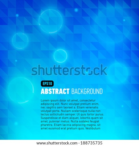 Abstract background with flare for business presentation. Vector illustration.
