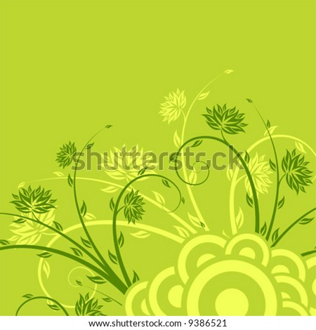 Abstract background with floral elements, digital artwork