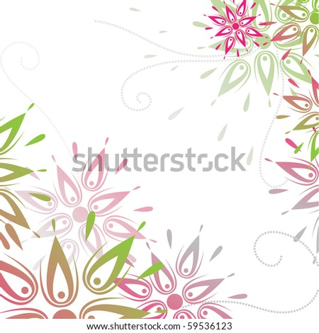 Abstract background with flowers - stock vector