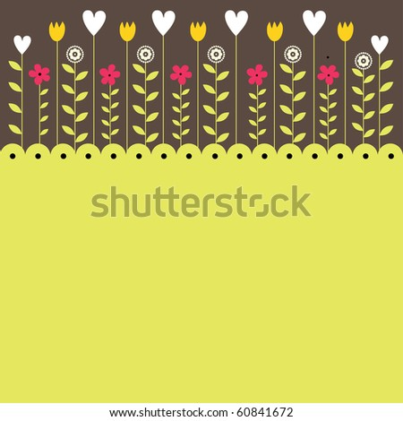 Abstract background with flowers. Vector illustration - stock vector