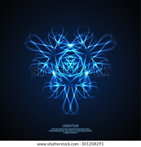 Abstract background with fractal. Vector. Electric arc, lightning, light intersection - stock vector