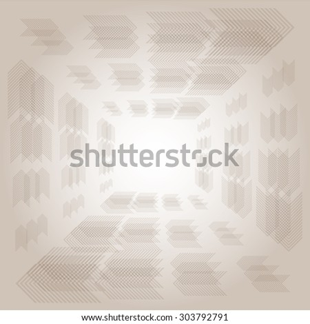 Abstract background with frame arrow and brown color tone, vector illustration