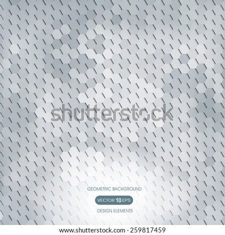 Abstract background with geometric elements, polygon - stock vector