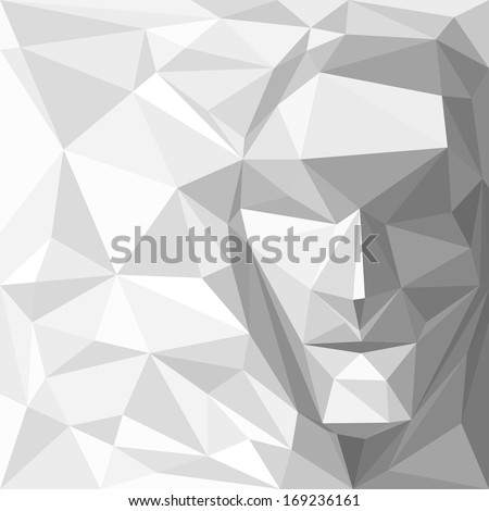Abstract Background with Geometric Face - stock vector