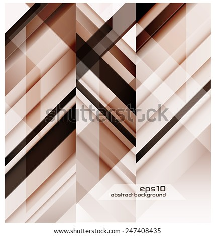 Abstract Background With Geometric Shapes - stock vector