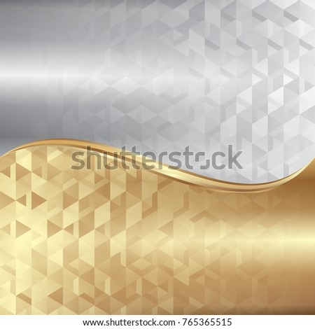 abstract background with geometric shapes divided into two