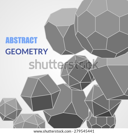 Abstract background with geometric shapes. Scientific and educational concept. Vector illustration. - stock vector