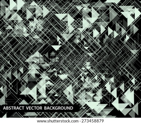 abstract background with geometry effect - stock vector