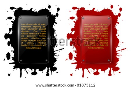 Abstract background with glass framework. Vector illustration. - stock vector