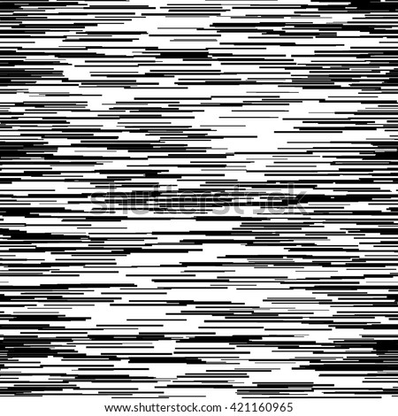 Abstract background with glitch effect, distortion, seamless texture, random horizontal black and white lines for design concepts, posters, banners, web, presentations and prints. Vector illustration. - stock vector