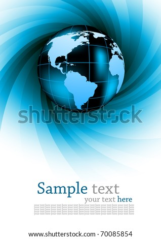 Abstract background with globe. Colorful illustration