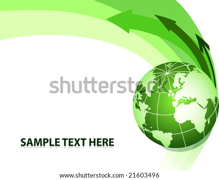 Abstract background with globe. Vector illustration - stock vector