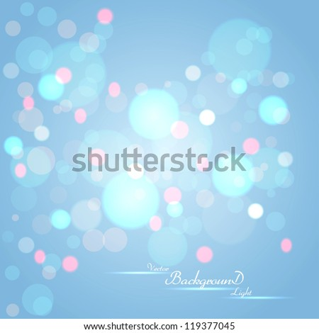 Abstract background with glowing circles. Vector - stock vector