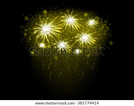 Abstract background golden fireworks vector illustration stock abstract background with golden fireworks vector illustration voltagebd Image collections