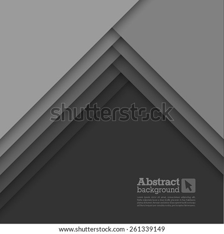 Abstract background with gray layers. Vector illustration. - stock vector